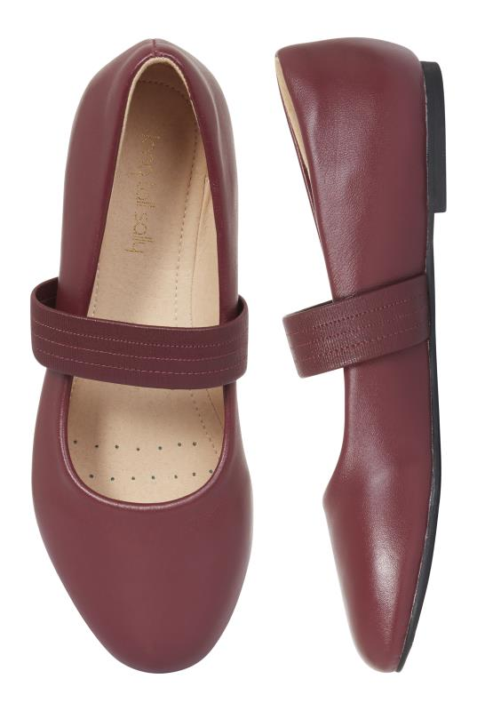 Red Leather Comfy Ashley Ballerina