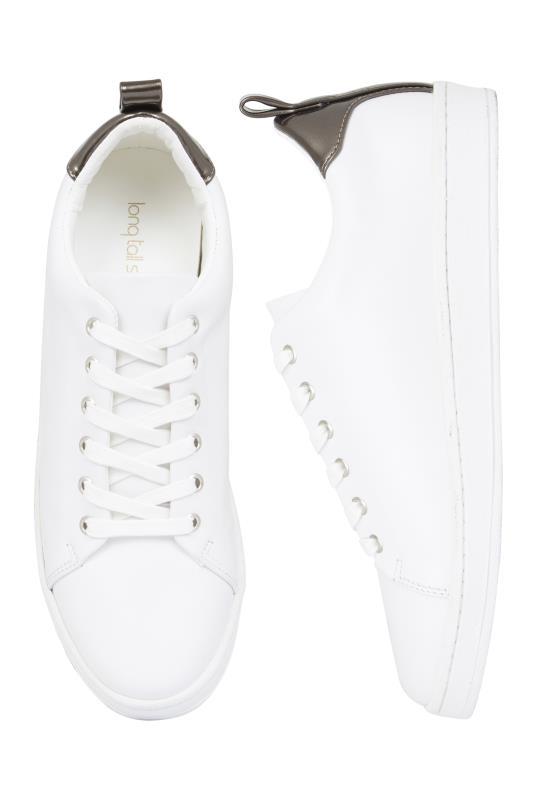 White Veronica Leather Trainer