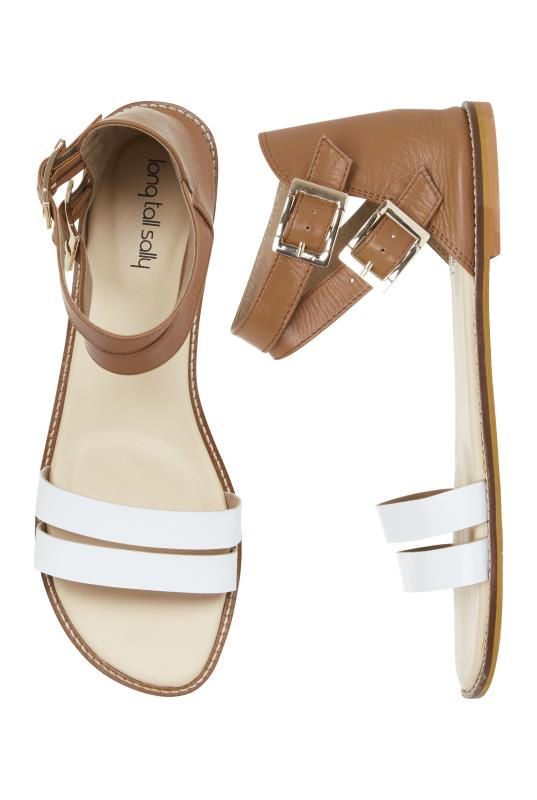 Brown and White Leather Gladiator Sandal_2.jpg