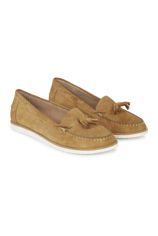Tall Loafers LTS Tan Rudy Suede Moccasin Tassel Loafer