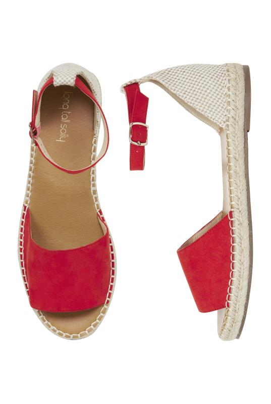Red Lolly Two Part Espadrille