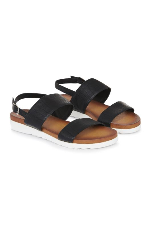 Brown Moulded Footbed Sandals