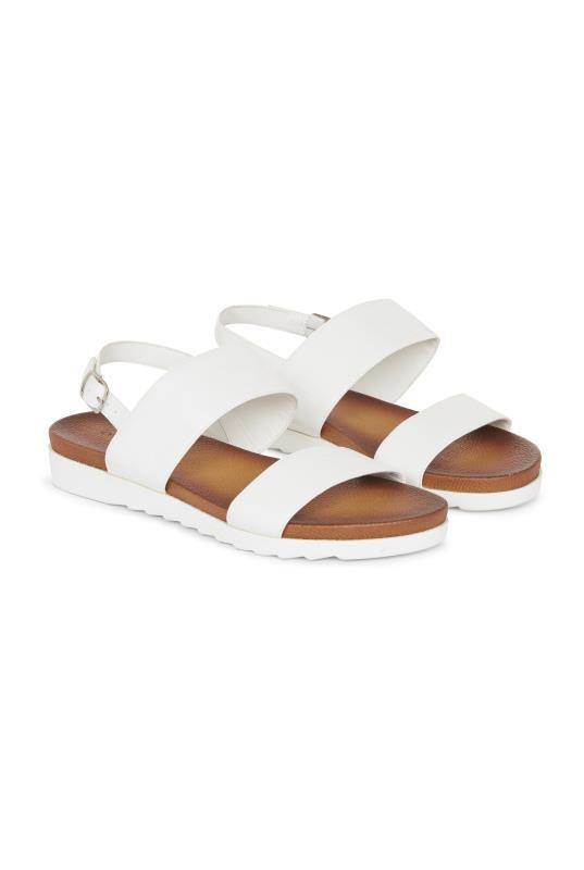 White Moulded Footbed Sandals