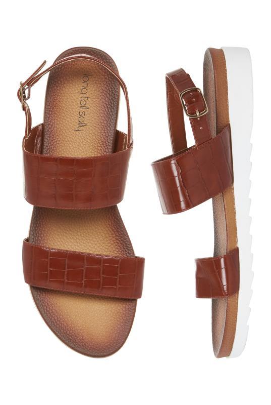Brown Moulded Footbed Sandals
