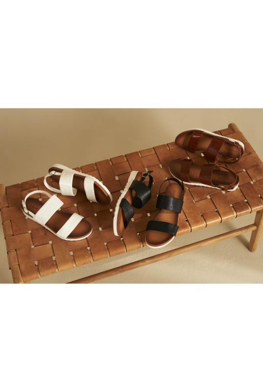 Brown Moulded Footbed Sandals   Long