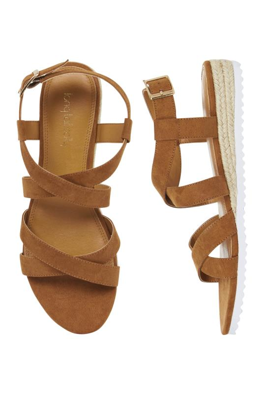 Brown Low Espadrille Wedge Sandals