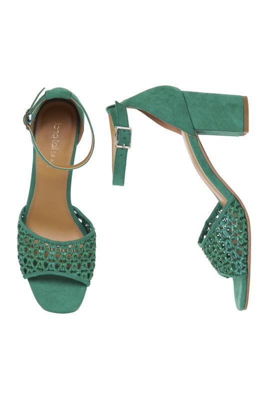 Jade Woven Detail Block Heel Sandal