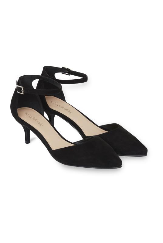 Tall Shoes LTS Delila Ankle Strap Kitten Heel