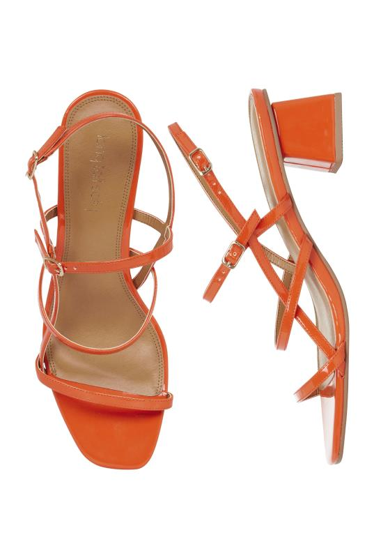 Orange Jodiene Strappy Mid Heel Sandal