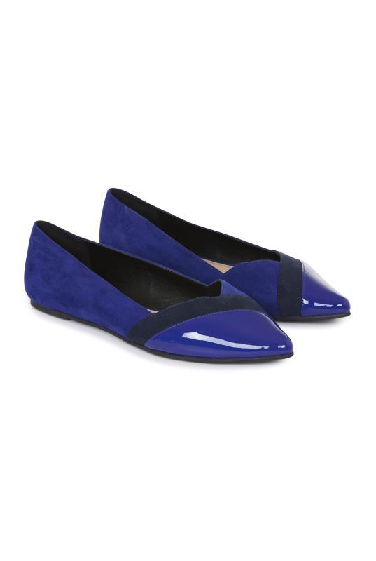 Blue Anaalise Almond Toe Ballerina