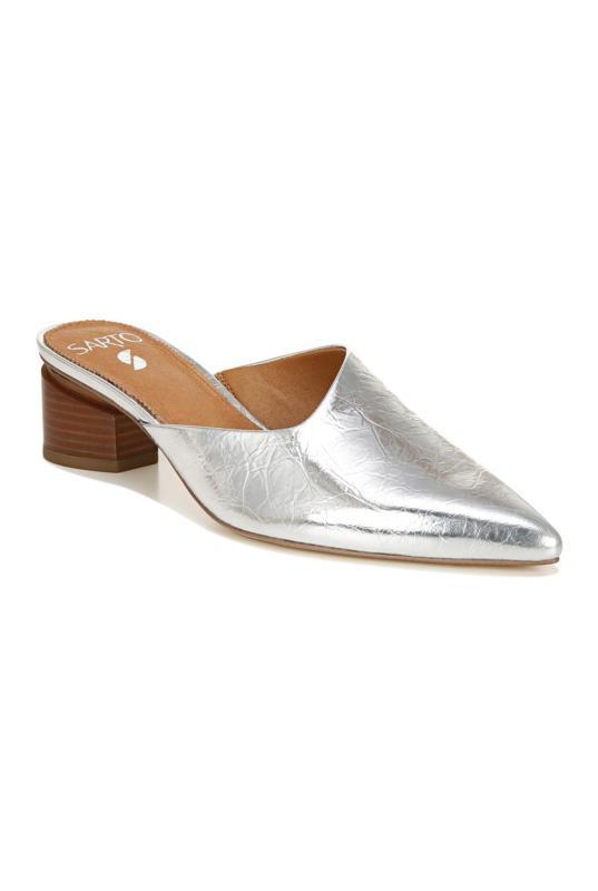 Silver Sarto Visa Leather Mule