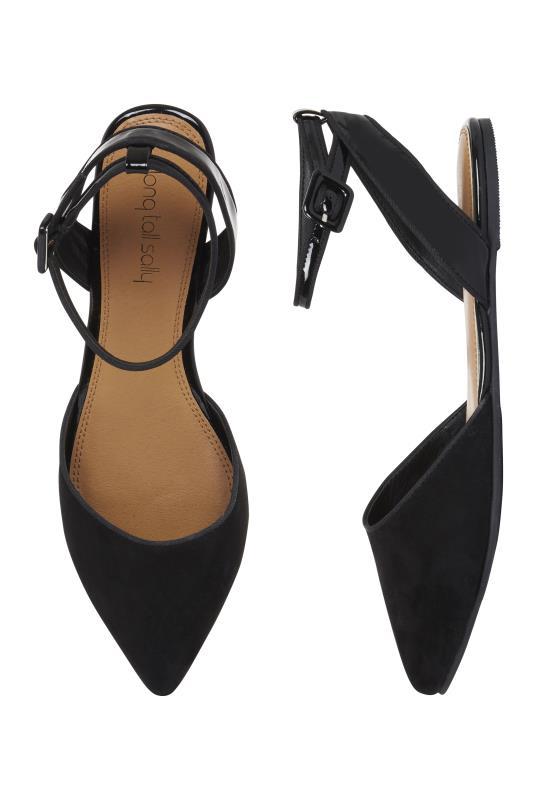 LTS Black Alyza Ankle Strap Ballerina