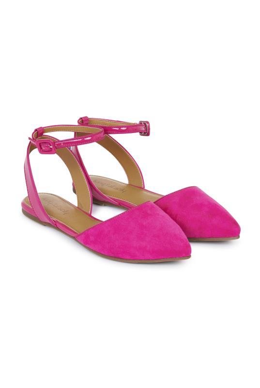 LTS Pink Alyza Ankle Strap Ballerina