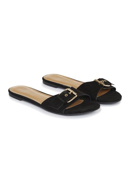 LTS Black Beverley Slip On Sandal