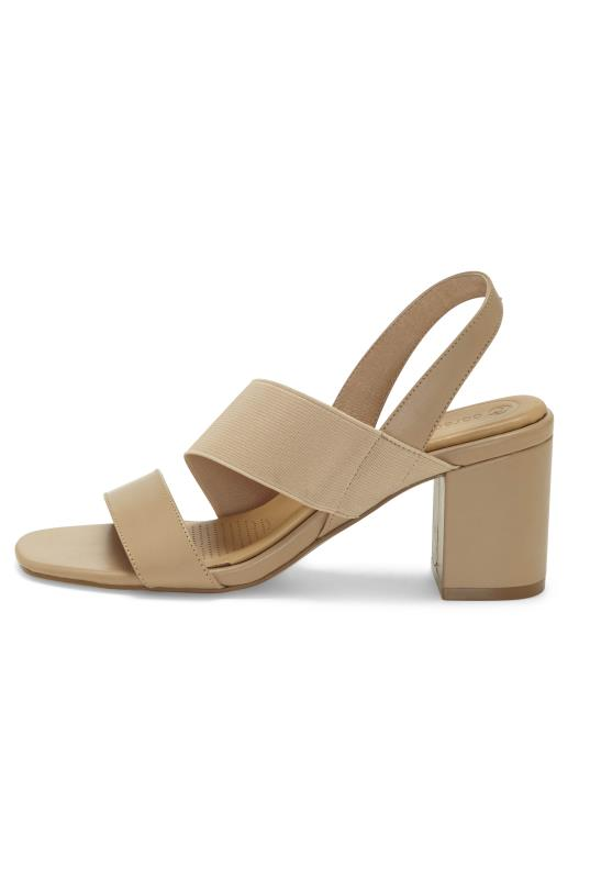 CORSO COMO Beige Leather Heel Sandal