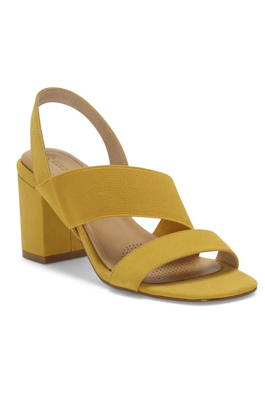 Yellow Corso Como Hally2 Leather Heel Sandal