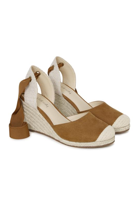 Tall Espadrilles LTS Demi Espadrille Wedge With Ankle Ties