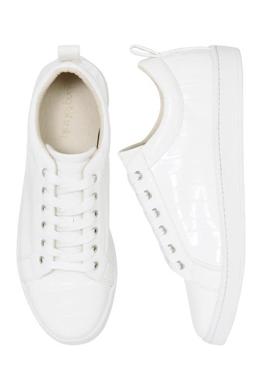 LTS White Via Croc Trainer