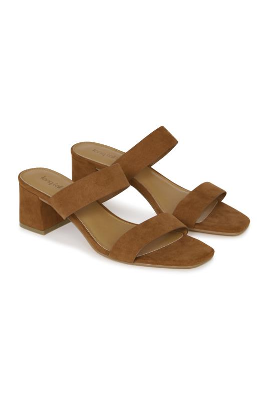 Tall Slides & Mules LTS Tan Sylvie Strappy Mule