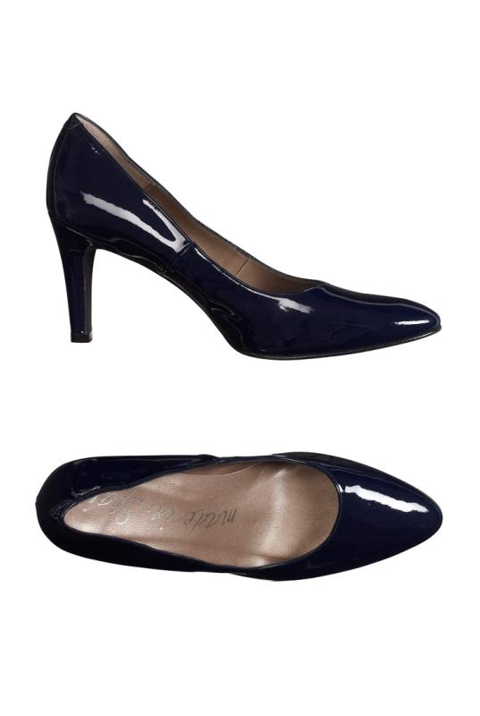 Navy Premium Patent Leather Court