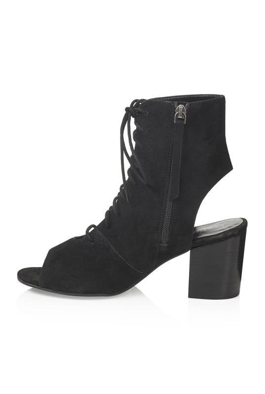 LTS Black Egypt Suede Lace Up Boots