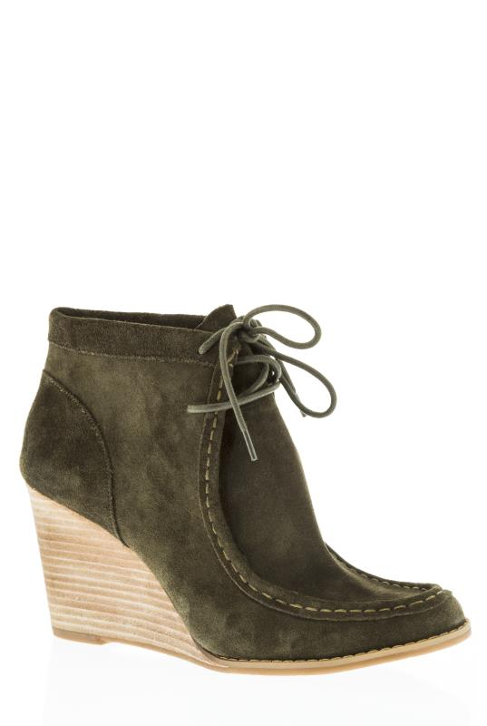 Lucky Brand Ysabel Green Wedge Ankle Boot