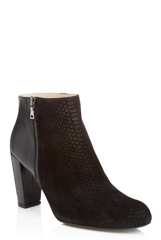 Deluxe Mixed Material Ankle Boot