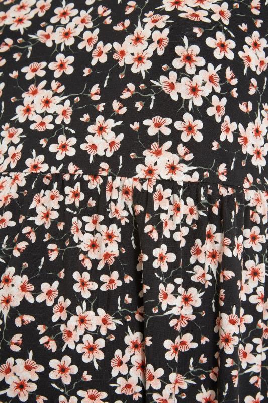 BUMP IT UP MATERNITY Black Floral Print Smock Top_S.jpg