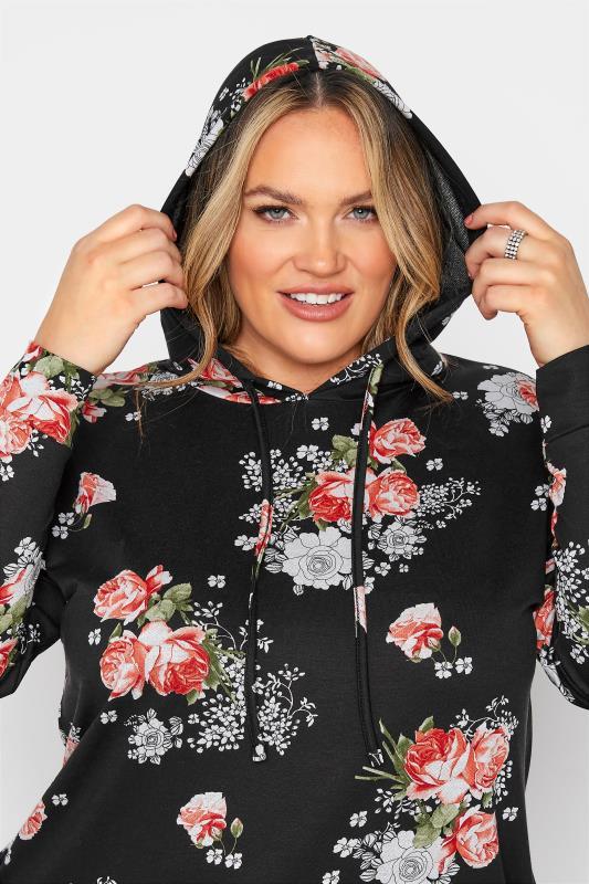 Black Floral Print Hoodie Dress_C.jpg