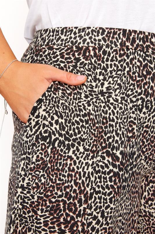 Brown Animal Print Jersey Shorts_D.jpg