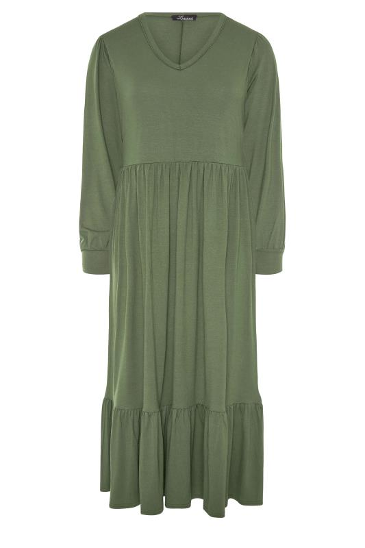 LIMITED COLLECTION Khaki Smock Midi Dress_F.jpg