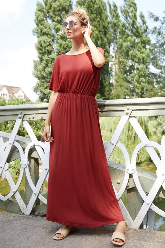LTS Burgundy Pocket Midaxi Dress_L1.jpg
