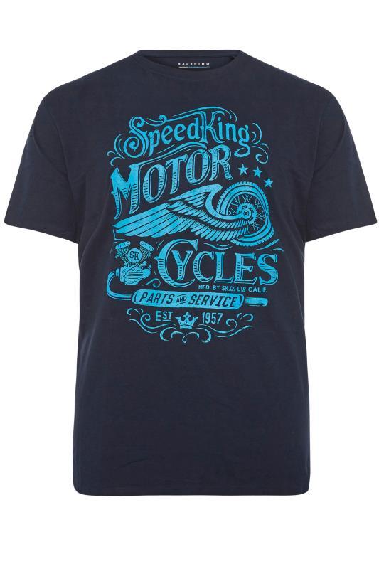 Men's  BadRhino Navy Motor Cycles T-Shirt