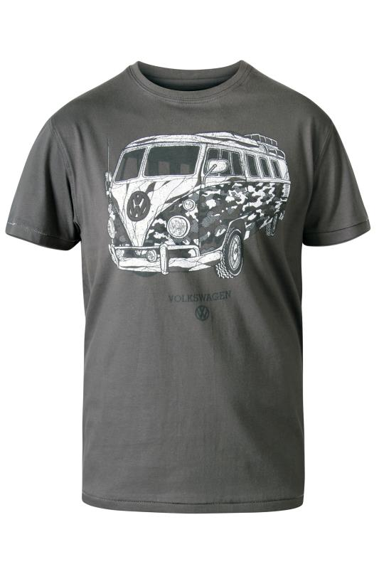 Men's  D555 Grey Campervan Camo Printed T-Shirt