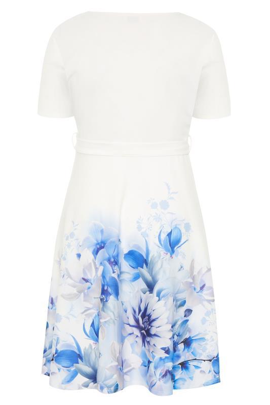 YOURS LONDON White Floral Border Skater Dress_BK.jpg