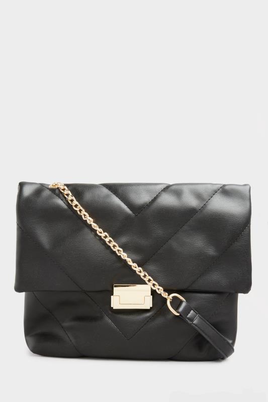 Black Quilted Chevron Chain Crossbody Bag_A.jpg