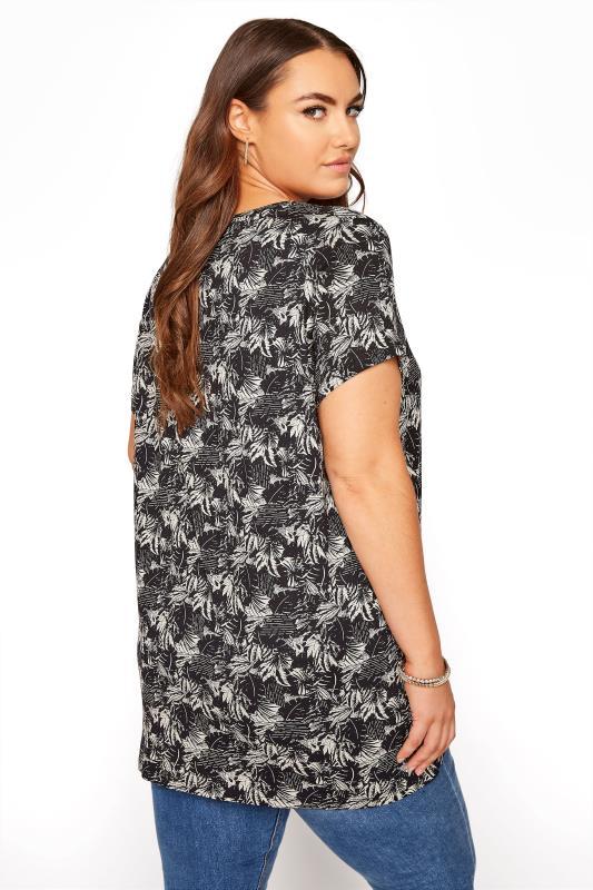 Black Leaf Print T-Shirt_C.jpg