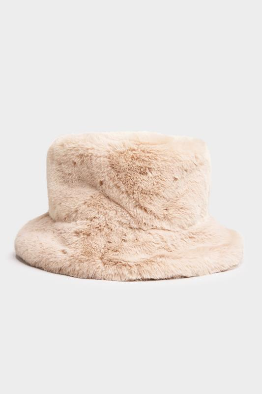 Stone Vegan Fur Bucket Hat