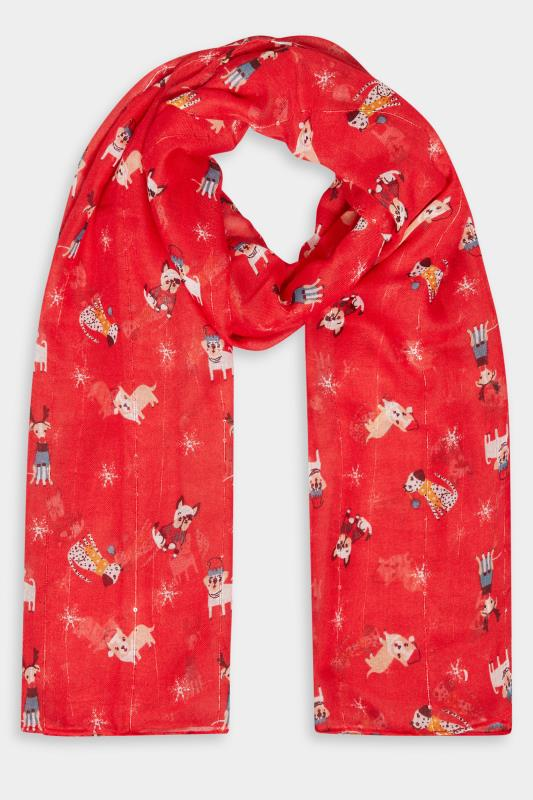 Red Sequin Christmas Novelty Dog Scarf_F.jpg