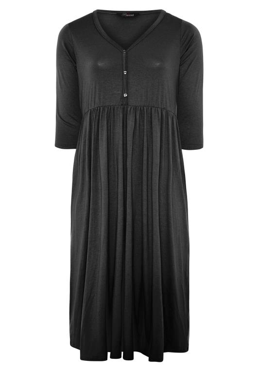 LIMITED COLLECTION Black Button Midaxi Dress_F.jpg