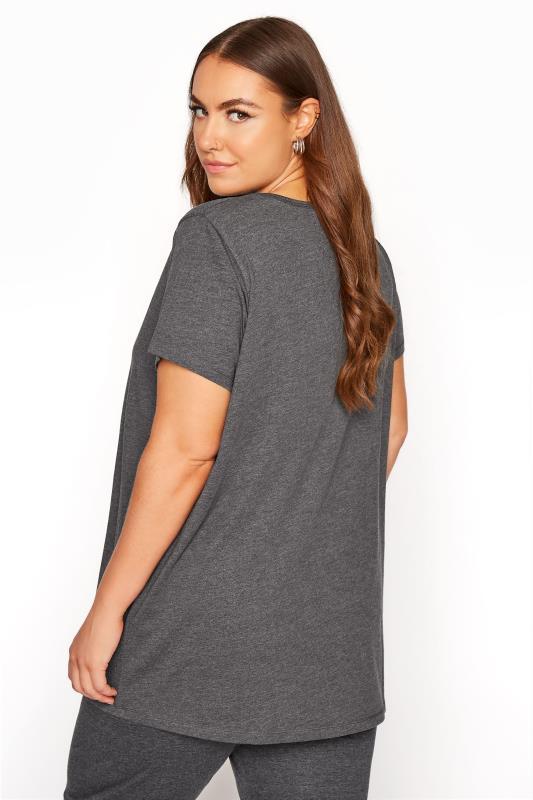 Charcoal Button Scoop Neck Pyjama Top_C.jpg