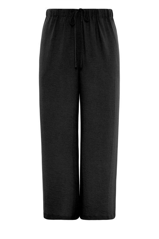 THE LIMITED EDIT Black Wide Leg Trousers_F.jpg