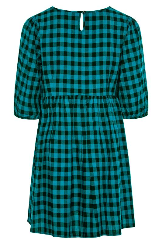 Teal Gingham Peplum Dress_BK.jpg