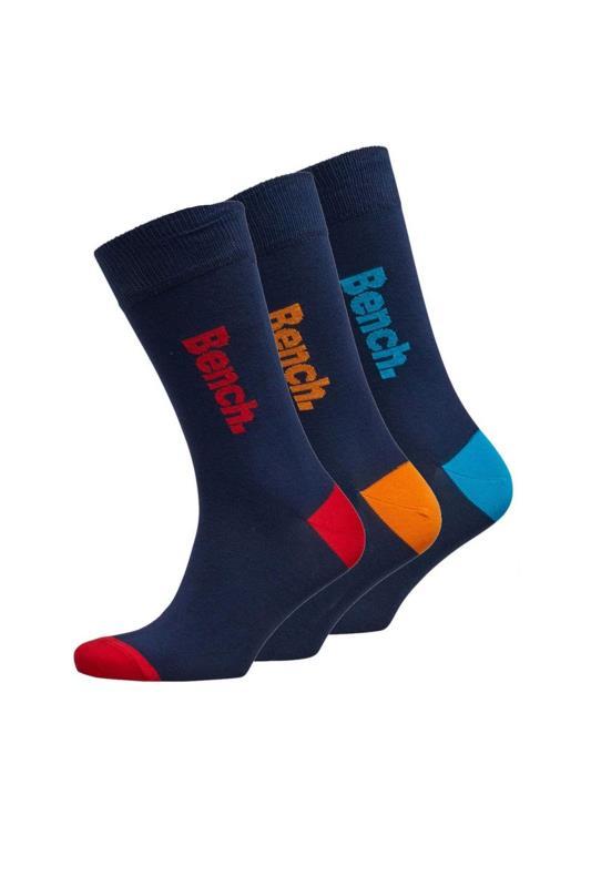 BENCH 3 PACK Navy Pavard Crew Socks