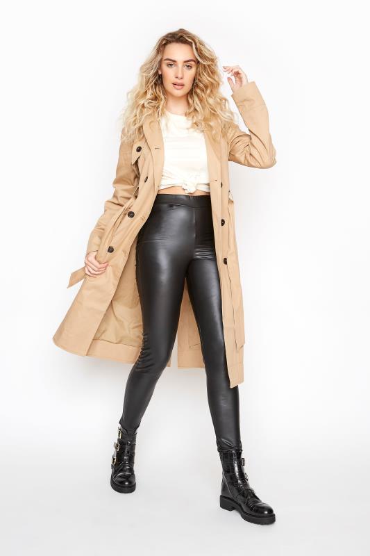 LTS Black Leather Look Leggings