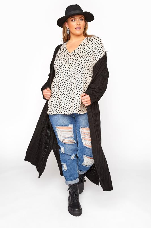 LIMITED COLLECTION Stone Polka Dot Frill Smock Top