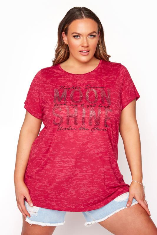 Red 'Moon Shine' Embellished T-Shirt_A.jpg