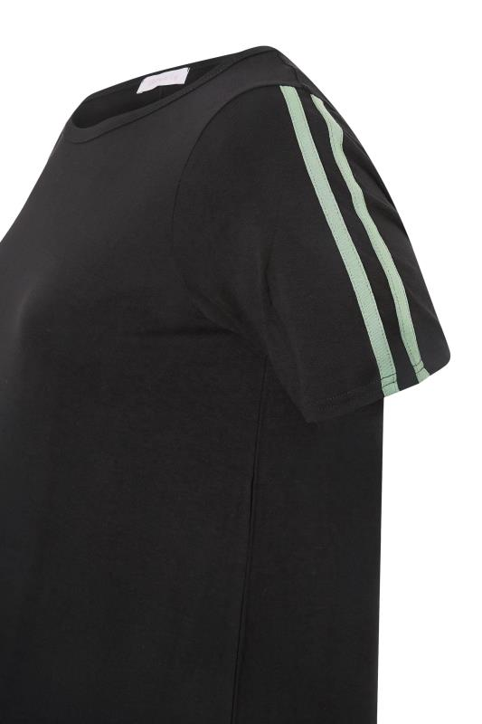 BUMP IT UP MATERNITY Black Stripe T-shirt & Shorts Set_s.jpg