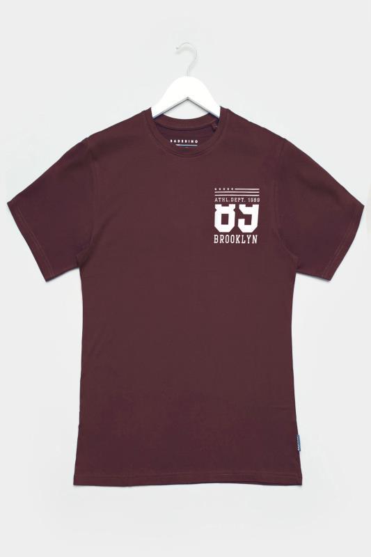 BadRhino Burgundy Brooklyn Logo T-Shirt