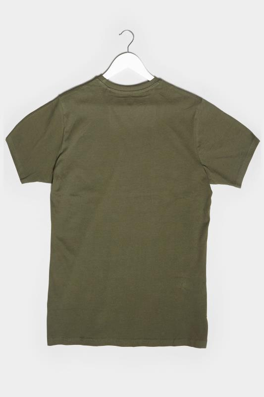 BadRhino Khaki Piston Garage Graphic Print T-Shirt